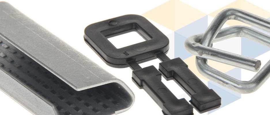 Umreifung 1000 Metall-Klemmen 19 mm für Umreifungsband gewebt Metallschnallen